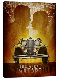 Lienzo  The Great Gatsby Poster - Albert Cagnef