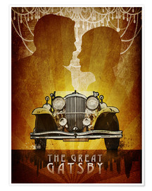Póster  The Great Gatsby Poster - Albert Cagnef