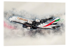 Metacrilato  Emirates A380 - airpowerart