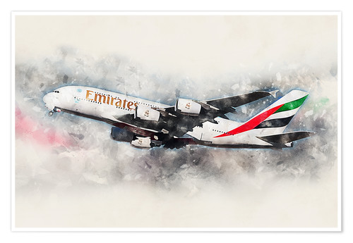 Póster Emirates A380