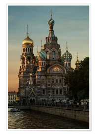Póster Cathedral of the Savior in Sankt Petersburg
