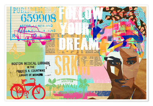 Póster Follow your dream collage
