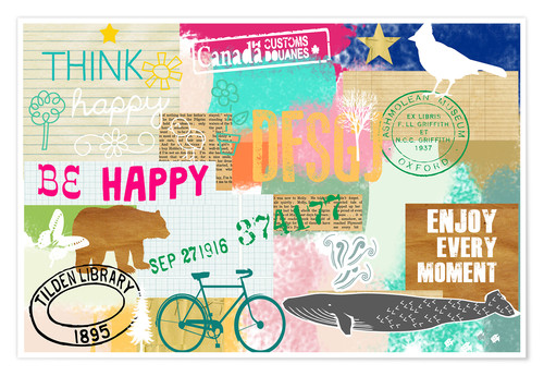 Póster Enjoy every Moment Collage