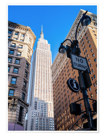 Póster  New York City Sky High, Empire State Building - Sascha Kilmer
