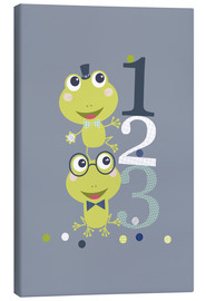 Lienzo  Frogs playing with numbers - Jaysanstudio