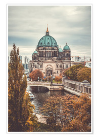 Póster Berlin Cathedral in autumn