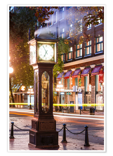 Póster Steam clock in Gastown, Vancouver, Canada