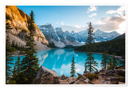Póster  Sunset over Moraine lake, Canada - Matteo Colombo
