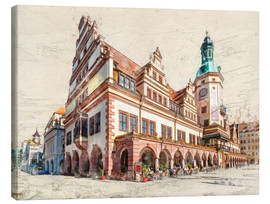Lienzo  Leipzig Old Town Hall - Peter Roder