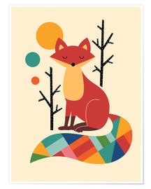 Póster Rainbow Fox