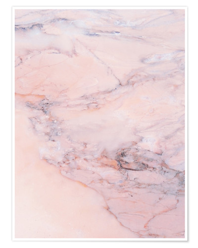 Póster Blush marble
