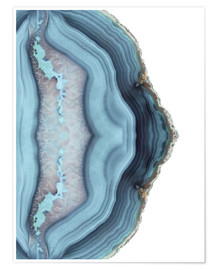 Póster Light blue agate