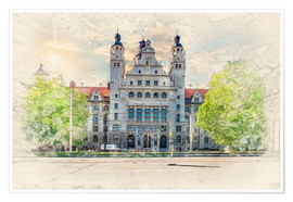 Póster Leipzig New Town Hall