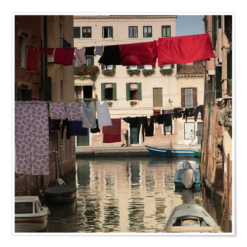 Póster Washing lines in Venice, Italy