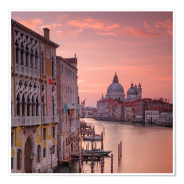 Póster Venice and the grand Canal at sunrise