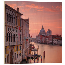 Cuadro de madera  Venice and the grand Canal at sunrise - Alex Saberi