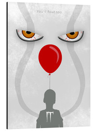 Cuadro de aluminio  IT - Pennywise - Minimal Alternative Movie Fanart - HDMI2K