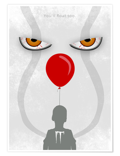 Póster IT - Pennywise - Minimal Alternative Movie Fanart