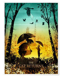 Póster  The Cat Returns (Haru en el reino de los gatos) - Albert Cagnef