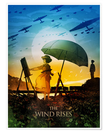Póster  The Wind Rises Poster Lounge - Albert Cagnef