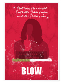 Póster Blow - Minimal Alternative Movie Fanart