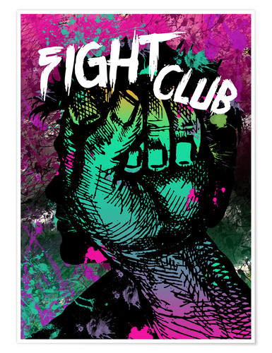 Póster Fight Club - Minimal alternative movie fanart #1