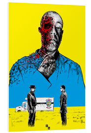 Cuadro de PVC  Breaking Bad Gus Fring death whit blood - Paola Morpheus