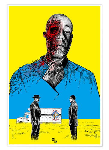 Póster Breaking Bad Gus Fring death whit blood