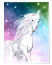Póster  Unicorn - Surprise - Dolphins DreamDesign