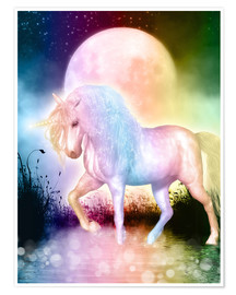 Póster  Unicorn - Love yourself - Dolphins DreamDesign