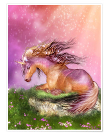 Póster Unicorn - Love is Healing