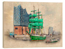 Madera  Hamburg Elbphilharmonie with the sailing ship Alexander von Humboldt - Peter Roder