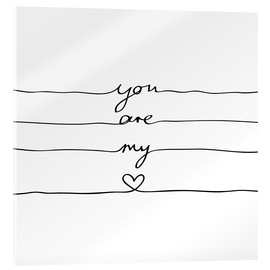 Metacrilato  You are my heart - Mareike Böhmer Graphics