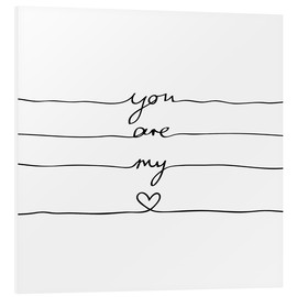 Cuadro de PVC  You are my heart - Mareike Böhmer Graphics