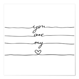 Póster  You are my heart - Mareike Böhmer Graphics
