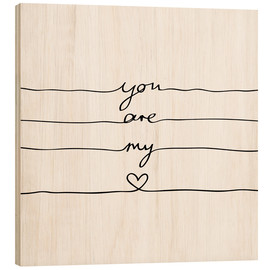 Cuadro de madera  You are my heart - Mareike Böhmer Graphics