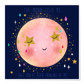 Póster  The moon told me - Elisandra Sevenstar