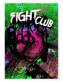 Póster Fight Club - Minimal alternative Film Fanart #2