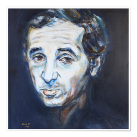 Póster Charles Aznavour, Hier Encore