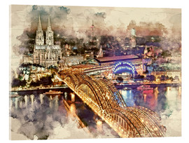 Cuadro de metacrilato  Cologne Skyline Cologne Cathedral - Peter Roder