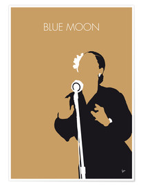 Póster Billie Holiday - Blue Moon