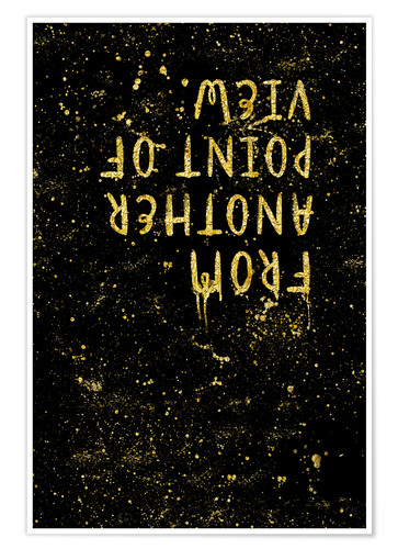 Póster TEXT ART GOLD From another point of view