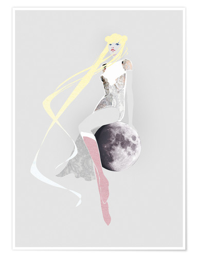 Póster Girl on the moon