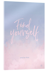 Cuadro de metacrilato  Find yourself - m.belle