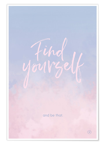 Póster Find yourself
