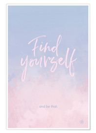 Póster  Find yourself - m.belle