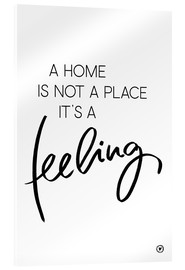 Cuadro de metacrilato  Home feeling - m.belle