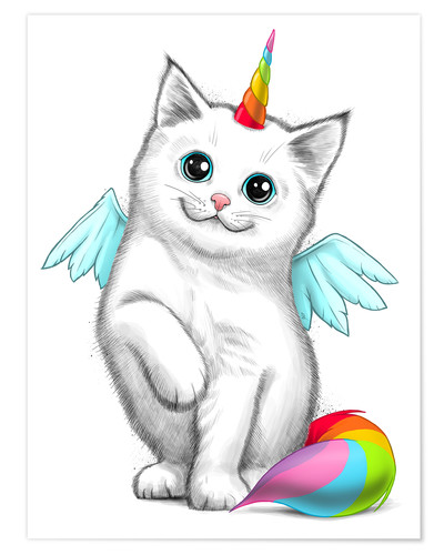 Póster Cat unicorn