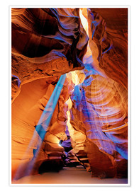 Póster  Upper Antelope Canyon Beam - Michael Rucker