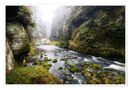 Póster  Kamnitz Gorge in the Saxon Switzerland - Reemt Peters-Hein